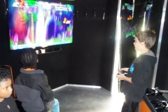 Plenty of room for more gamers in the action station!