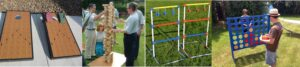 yard games - add to your Greenville NC video game truck or laser tag party